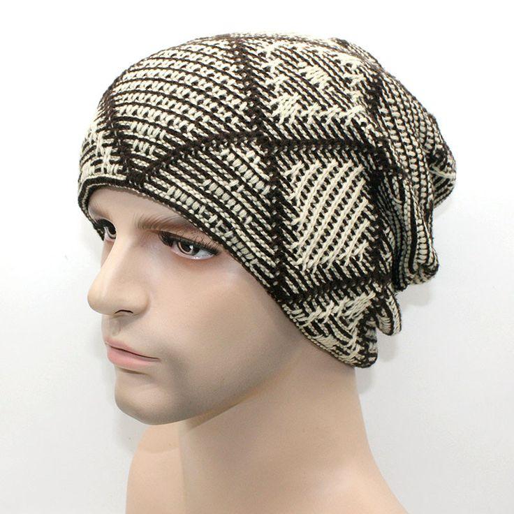 New brand Winter Beanies men Knitted wool hat Warm Soft Beanie plus velvet Cap bonnet Gorros Caps For Men Women Turban hats