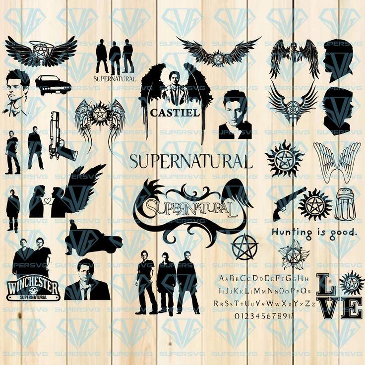 30 Supernatural Svg, Supernatural, Silhouette Installable