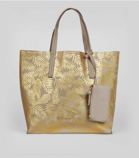 Metallic Palm Print Shopper Bag from New Look £22,99