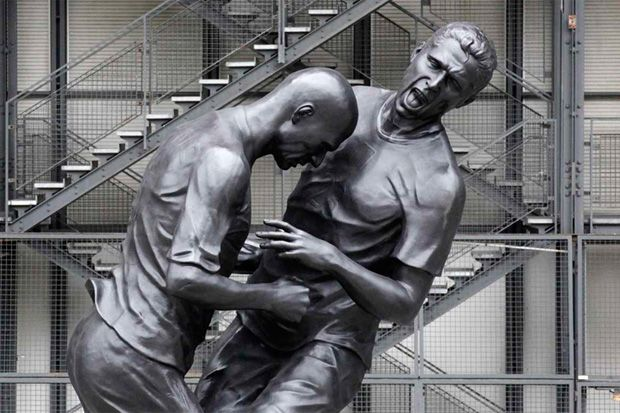 Zinedine Zidane Immortalized with Headbutt Statue by Adel Abdessemed