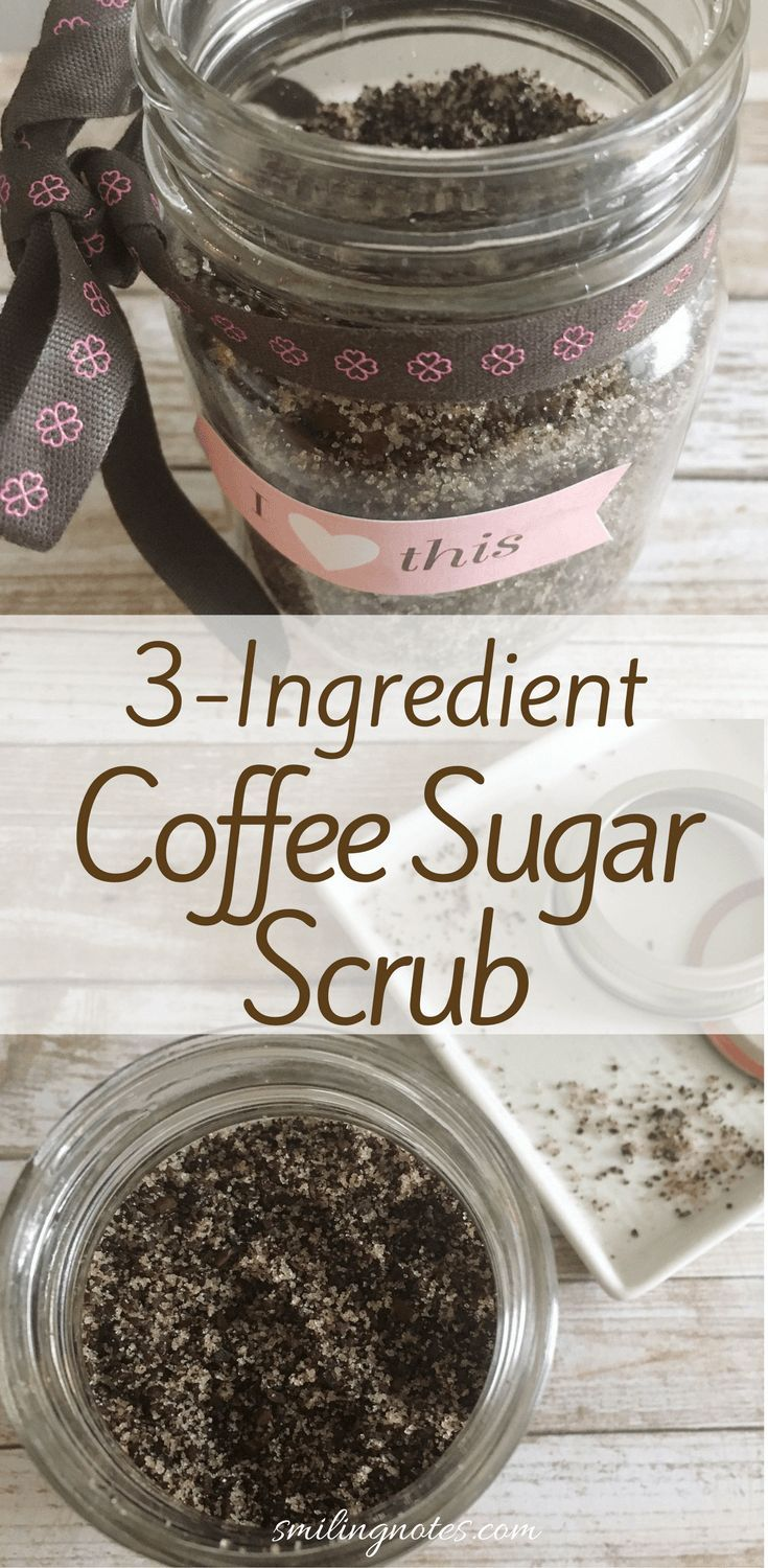 This heavenly smelling DIY Coffee Sugar Body Scrub is just what you need to pamp…