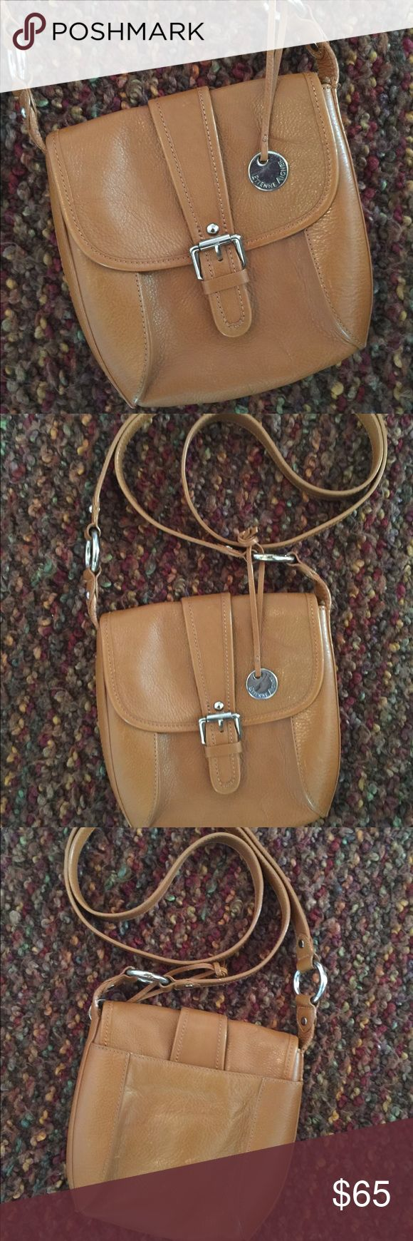 Etienne Aigner crossbody bag Camel colored pebble leather crossbody bag, perfect for worry-free, hands-free shopping or styling Etienne Aigner Bags Crossbody Bags