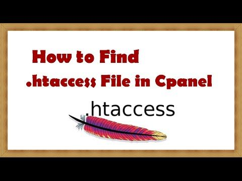 How to Find  htaccess File in Cpanel