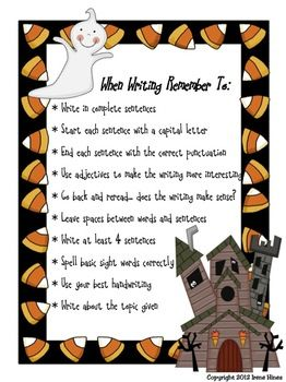 Daily Journal Writing Prompts For October ~Perfect For Writing Workshop! {Based On Common Core Standards} ~ Journal Covers with & without color background  ~October Word Bank to aide students with spelling ~Writer's checklist for students to remind them what to focus on while writing ~31 Writing Prompts about October, Halloween and Fall. ~These prompts do not have specific dates, & can be used year after year! ~31 Blank Writing Stationary That Match Prompts $