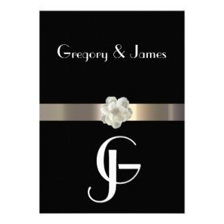 http://www.zazzle.com/gay+wedding+invitations?rf=238907610209401783 Classy Gay Wedding Invitations Online