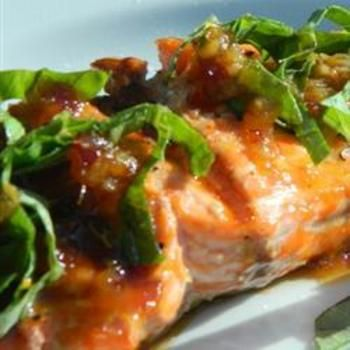 Fast Salmon with a Ginger Glaze