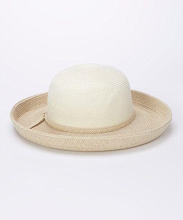 Another great find on #zulily! White Kettle Brim Sunhat #zulilyfinds