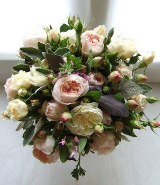 This romantic English country styled bouquet oozes with restrained elegance. The flowers in this bouquet are locally sourced in season and perfect for an autumn wedding.