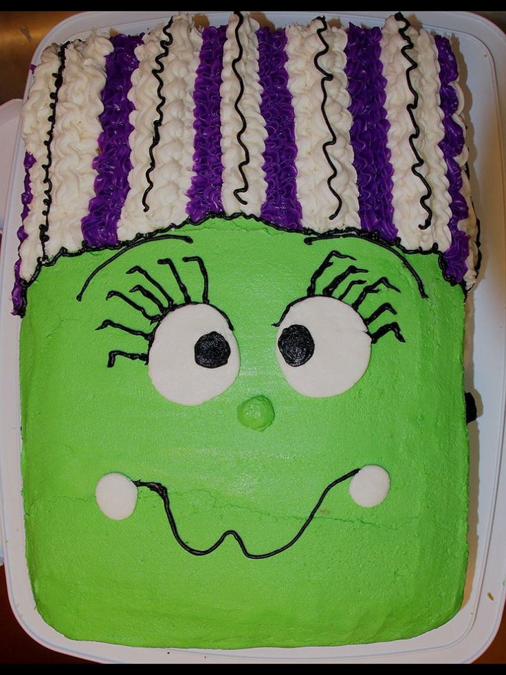 Frankenstein's Bride Halloween cake