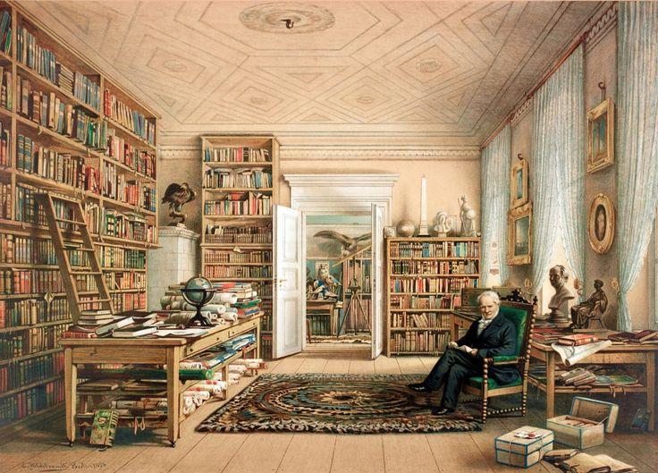Alexander von Humboldt in his Library byEduard Hildebrandt (1856)