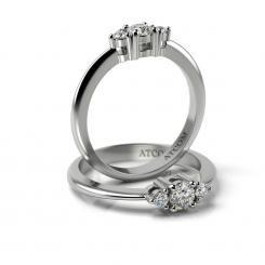 Inel de logodna din aur alb cu diamante Libra