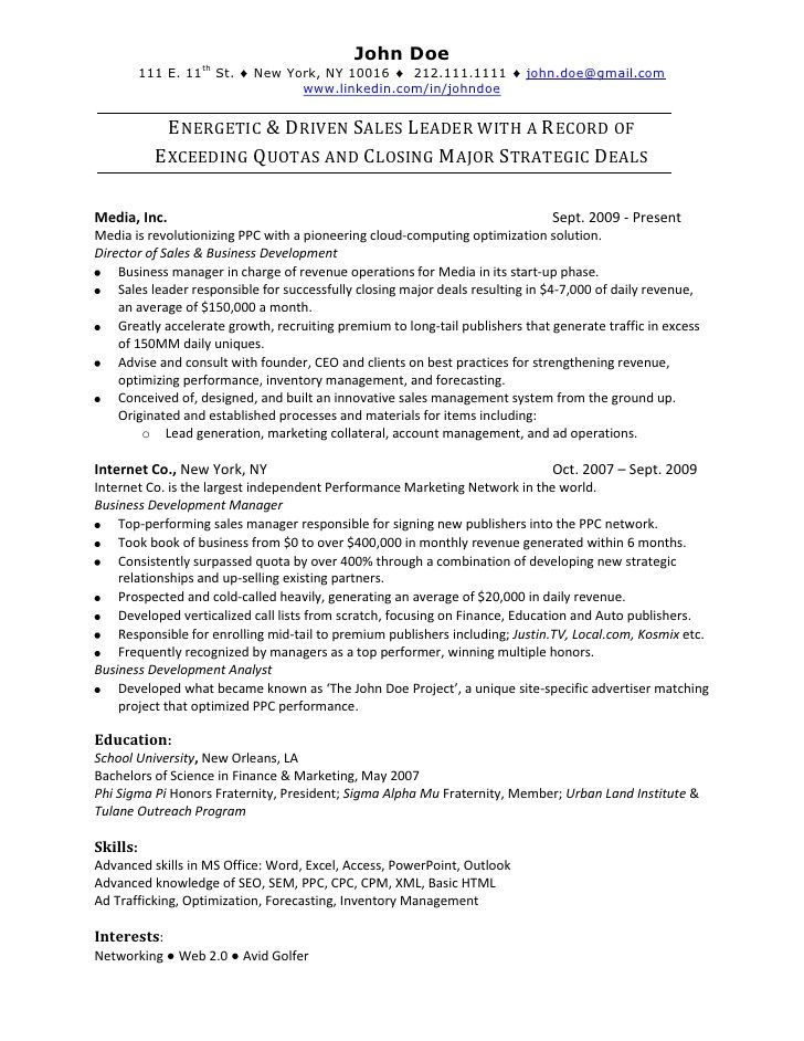online sales resume sample free samples examples and templates
