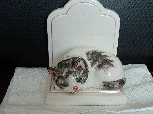 Vintage Porcelain Cat Bookend Italy от Vintageandnature на Etsy