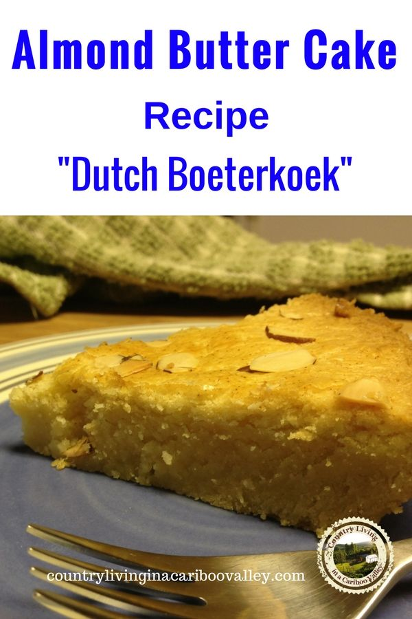 This Dutch treat is a Christmas tradition. Almond Butter Cake