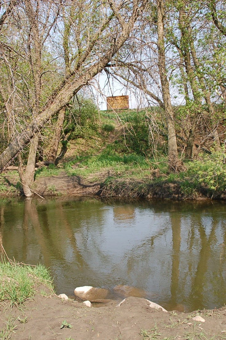 """Excellent photo of the Ingalls dug out site """"on the banks of plum creek""""."""