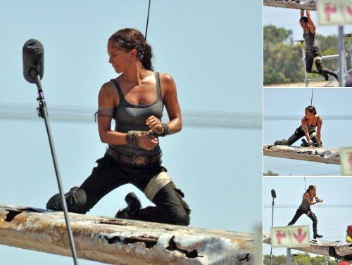 Galaxy Fantasy: Primer Vistazo: Alicia Vikander como Lara Croft en el rodaje de Tomb Raider
