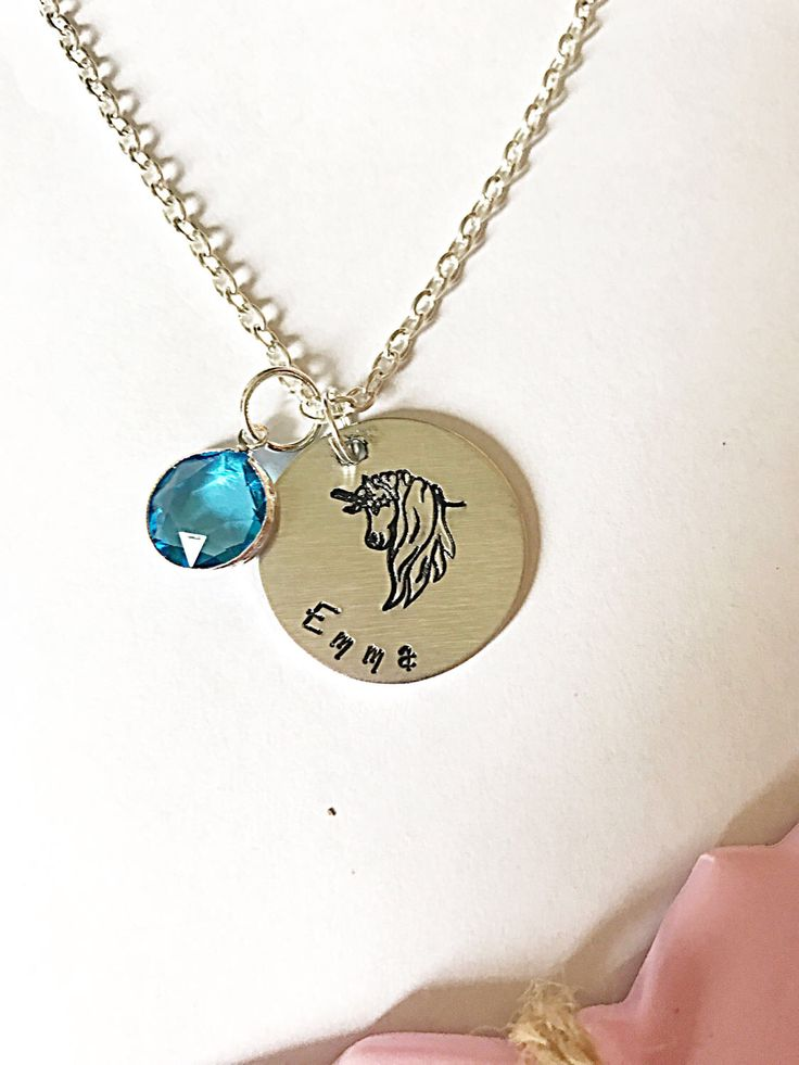 A personal favourite from my Etsy shop https://www.etsy.com/uk/listing/505864548/unicorn-necklace-personalised-necklace