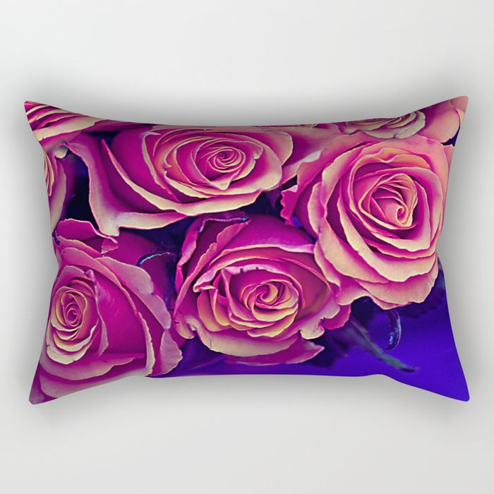 Buy Vintage violet roses Rectangular Pillow by maryberg. Worldwide shipping available at Society6.com. Just one of millions of high quality products available.