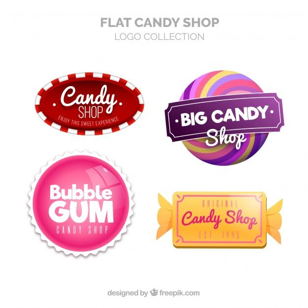Download Candy Shop Logos Collection For Companies For Free Confiteria Logotipo De Tienda Logotipo De Caramelos