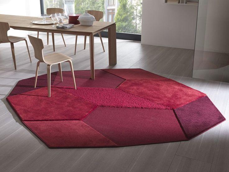 Handmade fabric rug PICCADILLY Besana Moquette