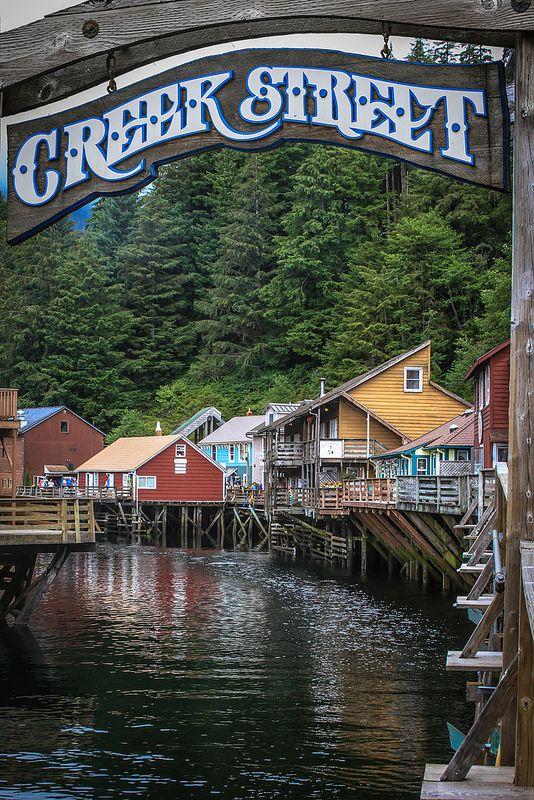 ~~Creek Street    historic boardwalk perched on pilings along the banks of Ketchikan Creek, Ketchikan, Alaska by Ron Fletcher Photography~~
