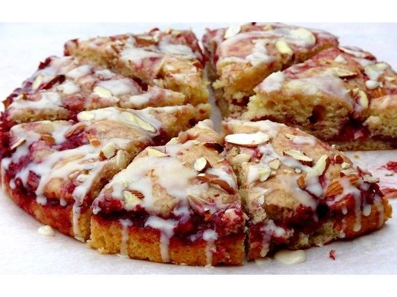 Raspberry Almond Coffee Cake for National Coffee Cake  Day April 7, 2013
