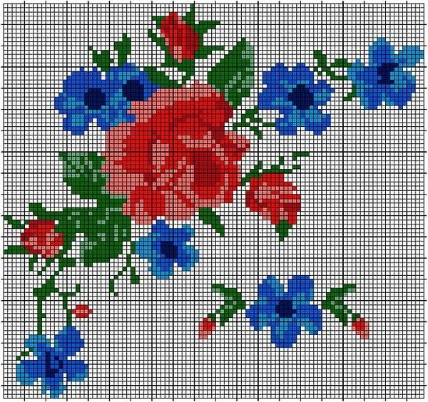Картинки цветки крестиком