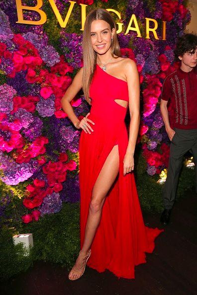Josephine Skriver attends Bulgari's Pre-Oscars Party