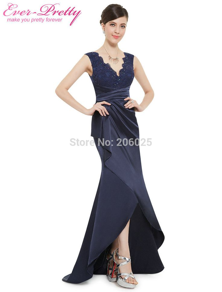 New Arrival Sexy Sleeveless Lace V neck Floor Length Mermaid Navy Blue Prom Dresses 2015 HE08482NB. Click visit to buy #PromDress #Dress