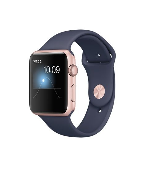 Apple Watch (Series 1 & Series 2) - Rose Gold Aluminum Case with Midnight Blue Sport Band  (38mm & 42mm)