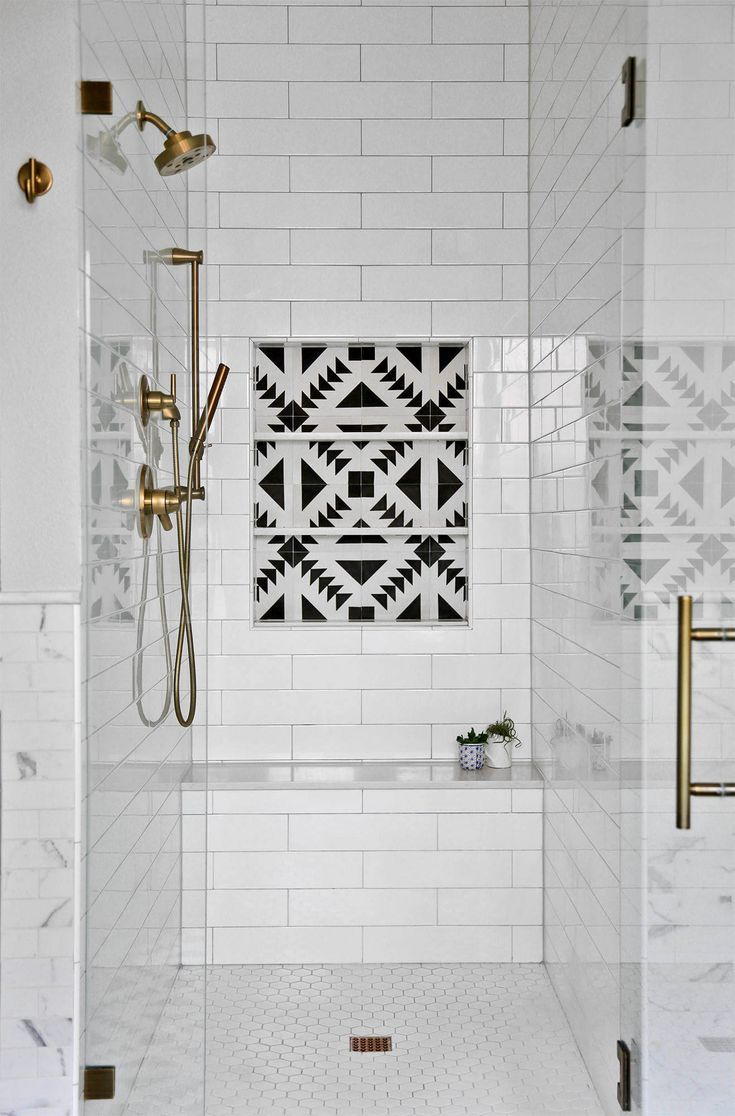 44 Modern Shower Tile Ideas And Designs 2020 Edition Shower Tile Farmhouse Master Bathroom Modern Shower Tile