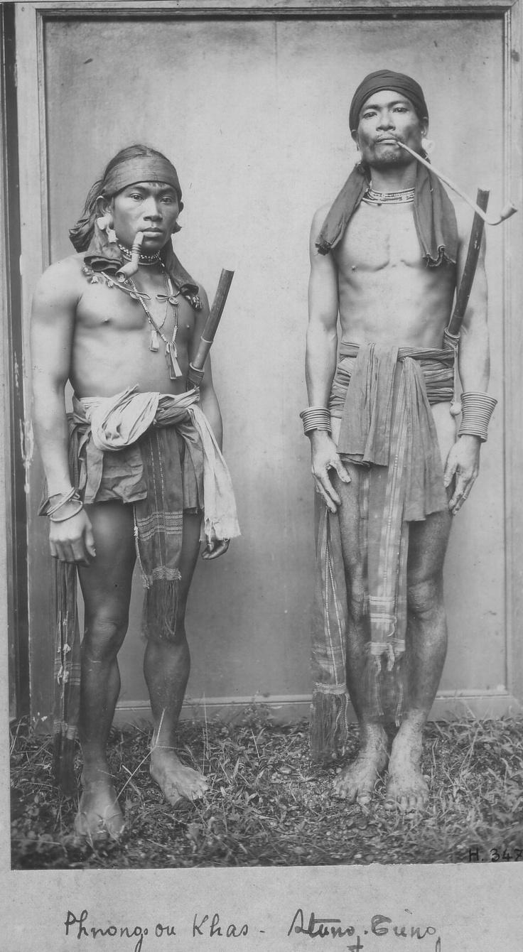 Phnong or Khas ethnic minority men, Stung Treng, #Cambodia    © unknown