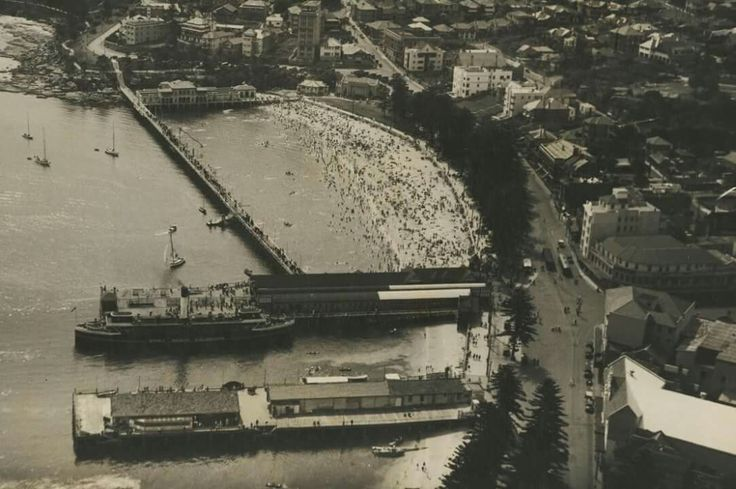 Manly Cove,in the Northern Beaches region of Sydney in  1939.