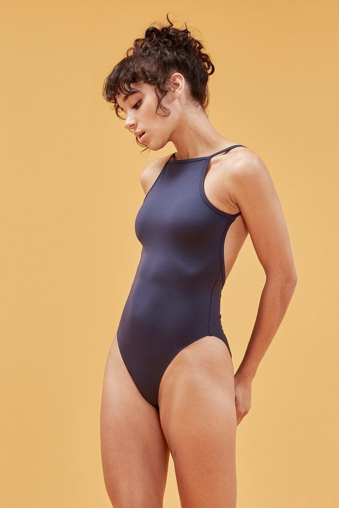 Midnight Silverlake Bodysuit - Bikini / XXS Dance like everybodyu2019s watching in this ballet-inspired low-back bodysuit. Made from recycled fishing...
