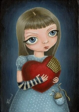 I'll mend your heart 5x7 print of an original by tanyabond on Etsy, $12.00