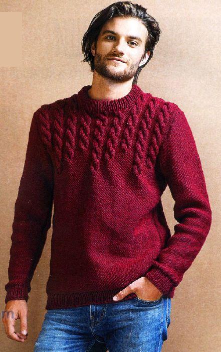 Картинки по запросу свитер мужской спицами