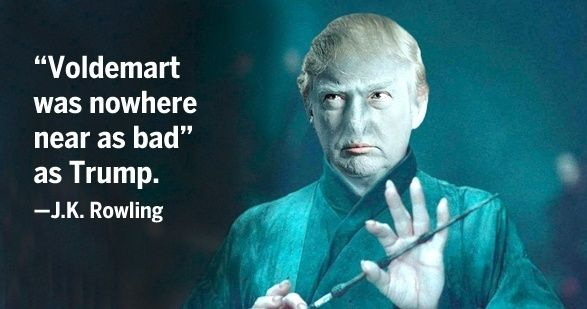"Donald Trump called for a ""total and complete shutdown"" of Muslims entering the U.S. J.K. Rowling tweeted that ""Voldemort was nowhere near as bad"" as Trump."