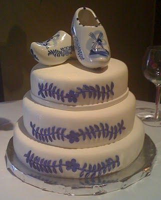 Oh, yeah.  Wooden Shoe Wedding Cake.  Go Dutch!