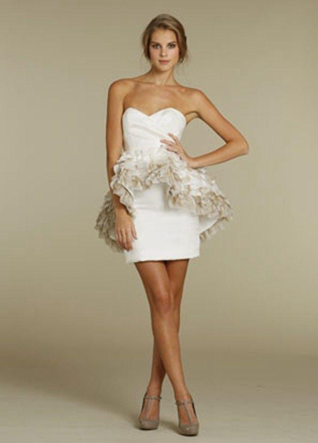 Fun Strapless Short Bridesmaid Dresses