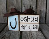 Baby boy girl family primitive name blocks wood custom nursery gift shower wedding  . . . great gift or for yourself . . . so very CUTE