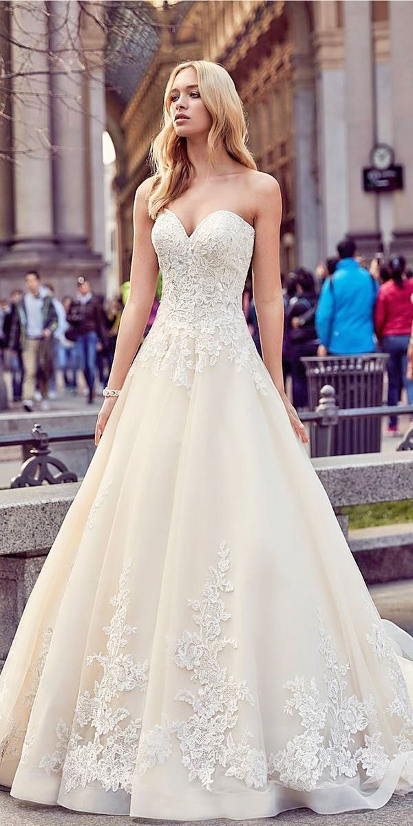 sweetheart lace a line bridal gowns wedding dresses