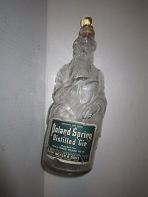 Poland Springs Early Century Vintage Gin Bottle with original stopper & label