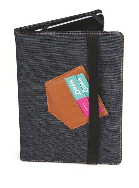 Tablet kılıflarımızda da haftasonu stili var! :)   eye-Q kot kumaşı Universal Tablet Kılıfı