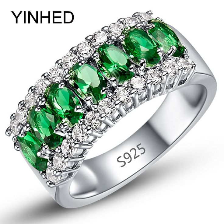 YINHED Brand Wedding Ring Green Zircon Stone //Price: $16.95 & FREE Shipping //     #love