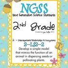 NGSS: Next Generation Science Standards - 2nd grade 2-LS2-2 Develop a simple model that mimics the function of an animal in dispersing seeds or pollinating plants.  This packet includes: *vocabulary wall cards (could be enlarged for poster) *ideas and original resources for teaching an engaging lesson *cut & paste correct order practice sheets *comic strip style sequencing for students to describe the order