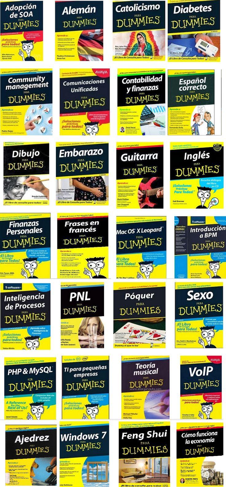 28 Libros para Dummies - PDF - Español - Ebook  http://www.librosayuda.info/2013/11/descarga-gran-coleccion-de-libros-para.html