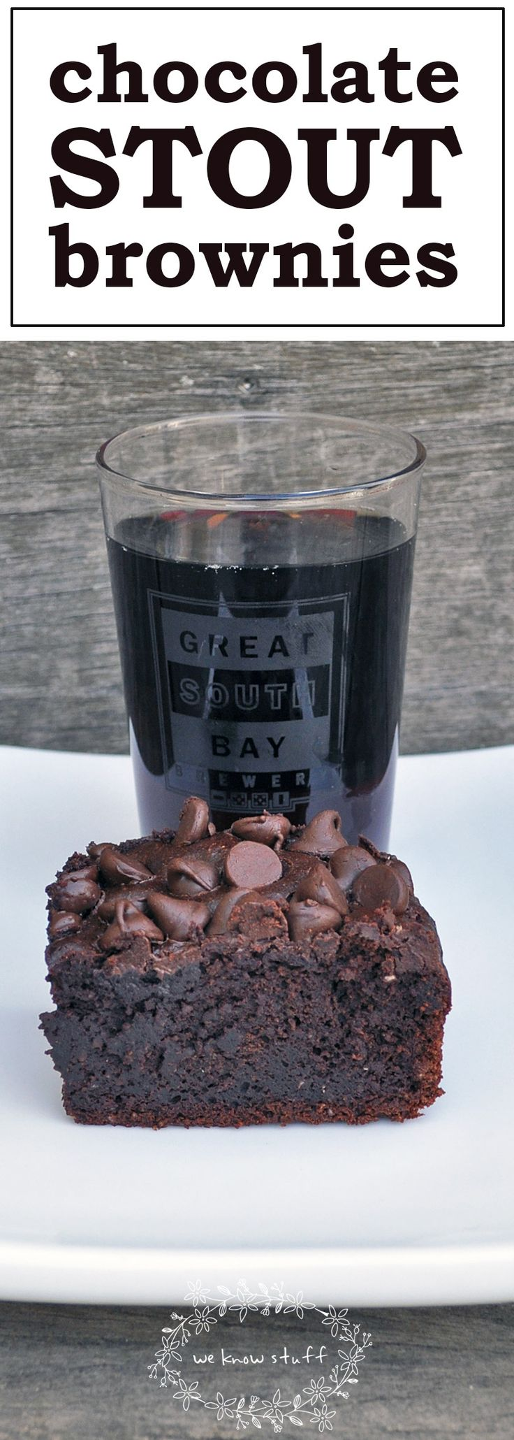 Did you know that you can bake with beer? Well, it's true – and the results are often delicious as seen with these chocolate stout brownies. They're perfect for Saint Patrick's Day!