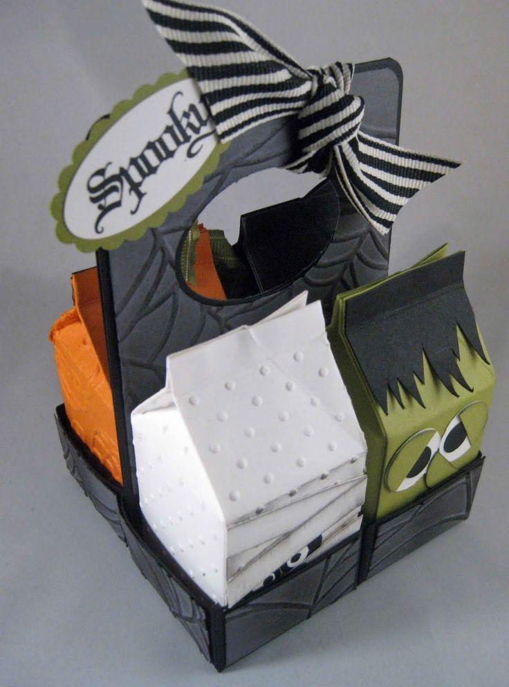 Halloween milk cartons