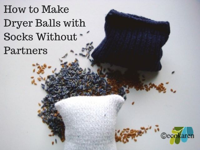 dryer balls with socks without partner by ecokaren
