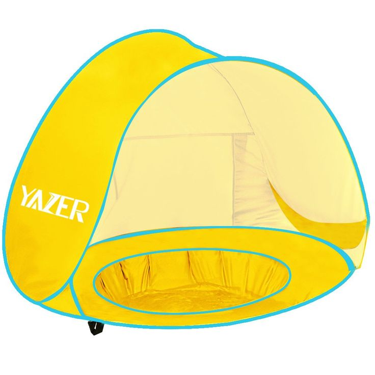 Baby Beach Tent Yazer Pop Up Tent Sun Protection Shelters Kiddie Pool for Infant with Ultra Lightweight Carry Bags for Outdoor and Indoor (Yellow). LIGHTWEIGHT AND HANDY---- Baby Tent is a nice size for baby to be protected by the shade, it is lightweight and easy to set up very handy on hot sunny days, bring on summer. DUAL PURPOSE----Perfect for taking baby to beach, camping, travel ,park with it, you can use this for a beverage tent also. Fill the basin with ice and keep them cold and…